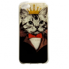 capa iphone 55s gato rei 5388