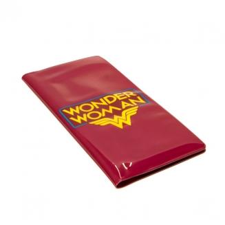 bolsinha para passaporte e passagem mulher maravilha 5779