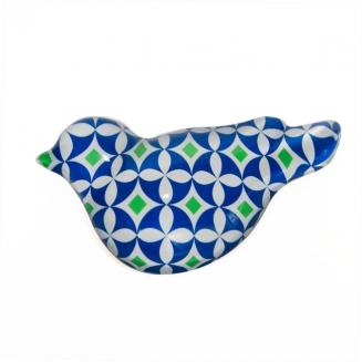 peso papel pomba azul 5901