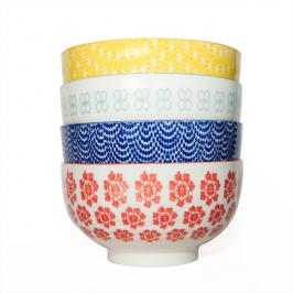 bowls porcelana estampada grande 4pcs 6104