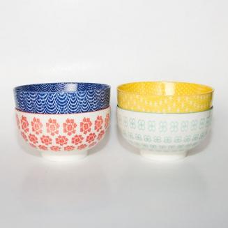 bowls porcelana estampada grande 4pcs 6103