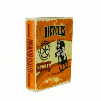 caixa livro bicycles pequena 6605