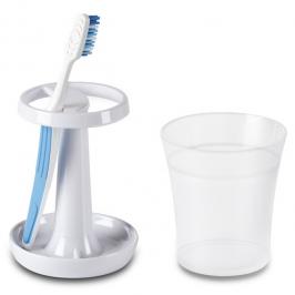 porta escova e pasta de dente brinse branco 7013
