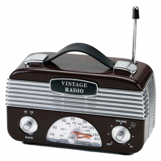radio am fm vintage marrom 7053