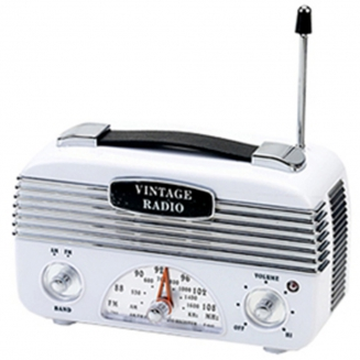 radio am fm vintage marrom 7054