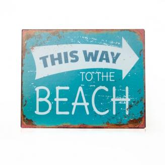 placa metal beach 7090
