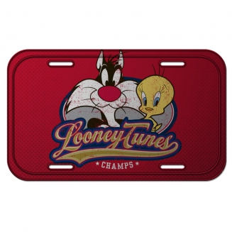 placa metal looney tunes champs 7387