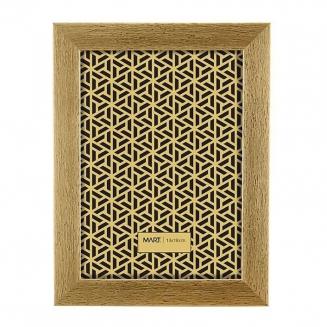 porta retrato dourado escovado 13x18cm 7559