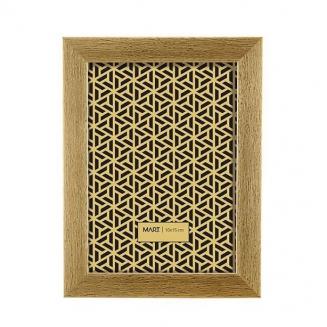 porta retrato dourado escovado 10x15cm 7560