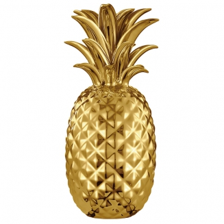 abacaxi decorativo dourado 7591