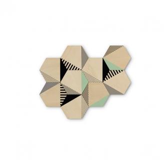 hexagonos de madeira hexy 7617