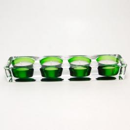 castical 4 velas vidro verde 7673