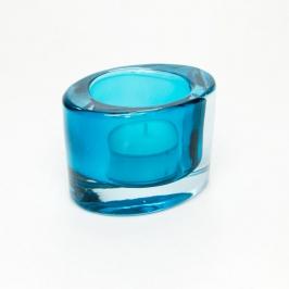 castical oval vidro azul 7679