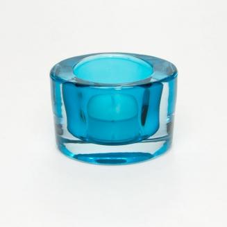castical oval vidro azul 7678