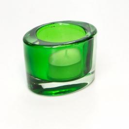 castical oval vidro verde 7681