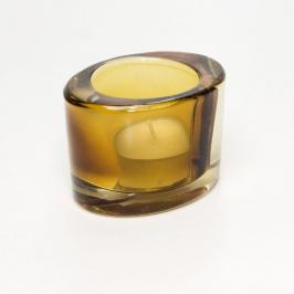 castical vidro oval ambar 7683