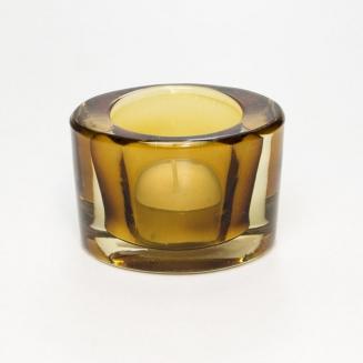 castical vidro oval ambar 7682