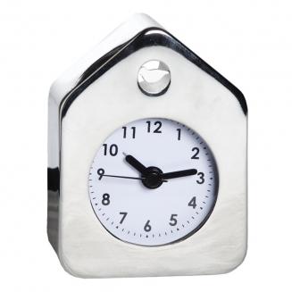 relogio despertador casa de passaro prata 7711