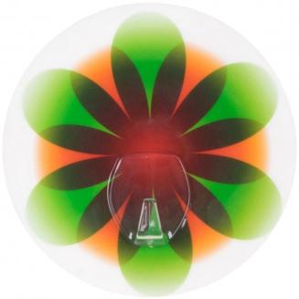 cabideiro sem furo pyno flor verde 7784