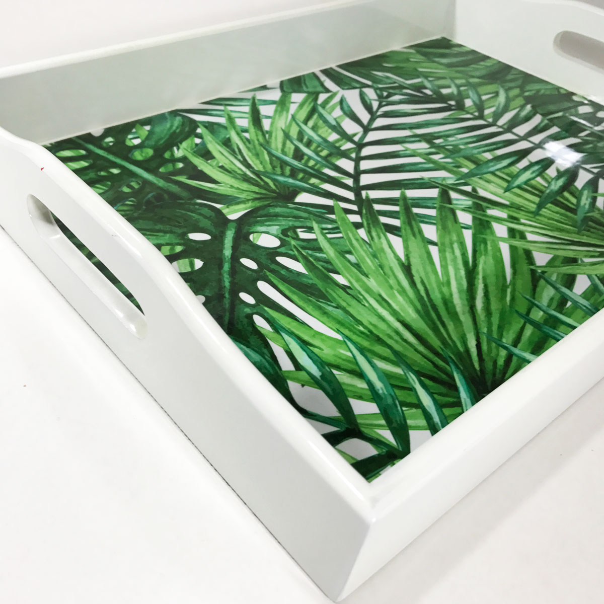 bandeja tropical laca branca media 7850