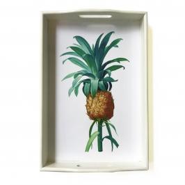 bandeja abacaxi laca branca pequena 7856