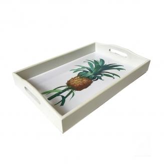 bandeja abacaxi laca branca pequena 7855