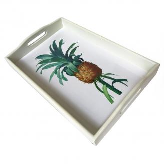 bandeja abacaxi laca branca grande 7861