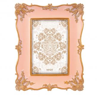 porta retrato rococo 10x15 rosa 7910