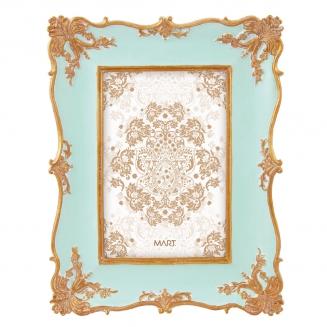 porta retrato rococo 10x15 azul 7911