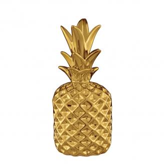 abacaxi decorativo dourado grande 7926