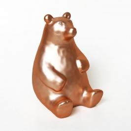cofre urso amigo dourado 7956