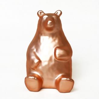 cofre urso amigo dourado 7955