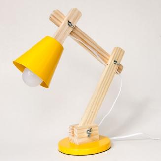 luminaria pixar madeira amarela 8018