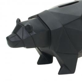 cofre origami urso preto 8096