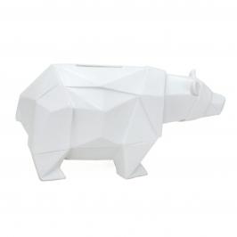 cofre origami urso branco 8100