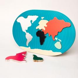 puzzle mapa mundi 8104