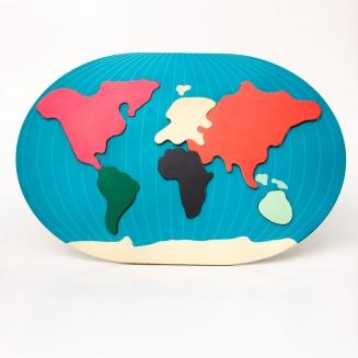 puzzle mapa mundi 8103