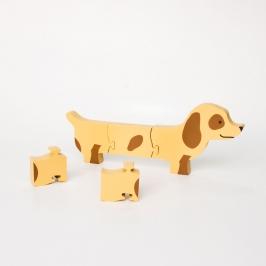 puzzle cachorro salsicha 8109