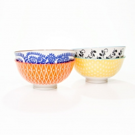 conjunto com 4 bowls verao 8157