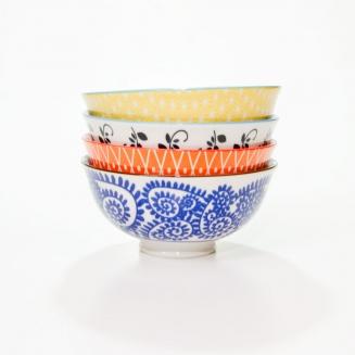 conjunto com 4 bowls verao 8156