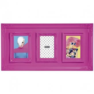 porta retrato mart 3 fotos rosa 10x15cm 3938
