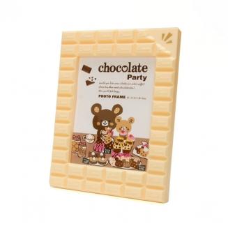 porta retrato 13x18 chocolate branco 3952