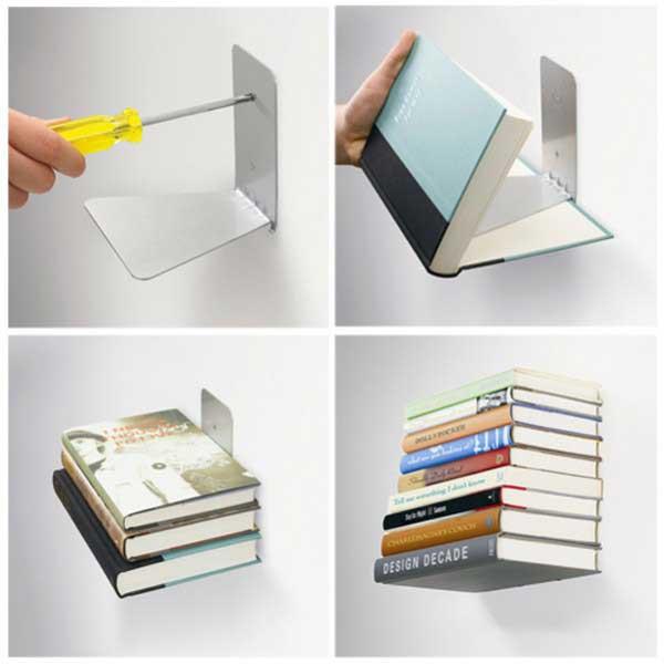 prateleira de livros invisivel 3369