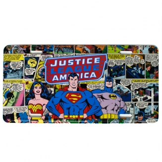 placa metal liga da justica 4326