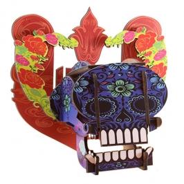mini cabeza caveira floral 3396