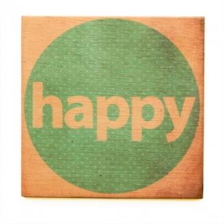 quadro wood happy 4440