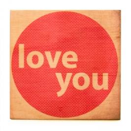 quadro wood i love you 4443