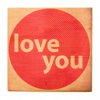 quadro wood i love you 4442