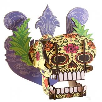 mini cabeza caveira style 3399