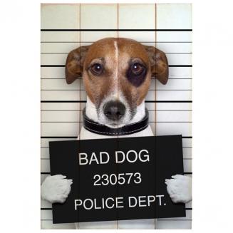 quadro wood bad dog 4498